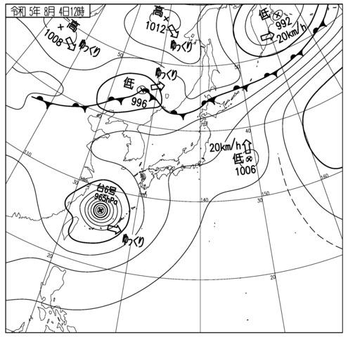現在の天気図